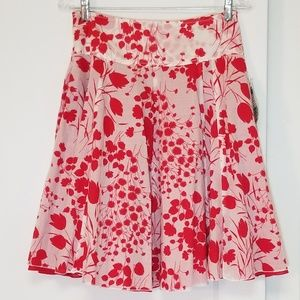 NWT United Colors of Benetton Red & White Skirt